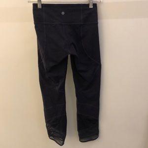 lululemon athletica Pants - Lululemon plum perforated and mesh legging, sz 4